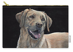 Carry-all Pouch featuring the painting Labrador Portrait by John Neeve