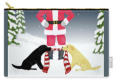 Labs Tug Santa Scarf Carry-all Pouch