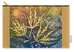 Lace Leaves Carry-all Pouch by Nancy Jolley