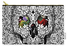 Lace Skull White Carry-all Pouch