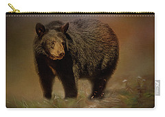Black Bear In The Fall Carry-all Pouch