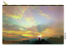 Carry-all Pouch featuring the photograph Lackawanna Transit Sunset by Diana Angstadt