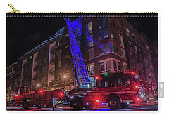 Ladder Truck Deployed At Night Carry-all Pouch