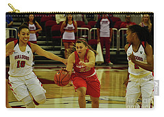 Carry-all Pouch featuring the photograph Ladies Basketball by Debby Pueschel