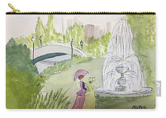 Ladies By Fountain Carry-all Pouch