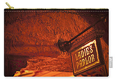 Carry-all Pouch featuring the photograph Ladies Parlor Sign by Carolyn Marshall
