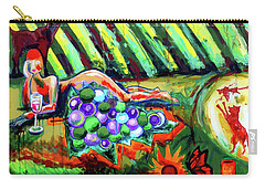 Carry-all Pouch featuring the painting Lady And The Grapes by Genevieve Esson