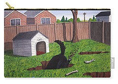 Lady Digs In The Backyard Carry-all Pouch