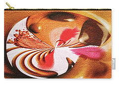 Carry-all Pouch featuring the digital art Lady Godiva by Paula Ayers