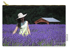 Lady In Lavender Carry-all Pouch