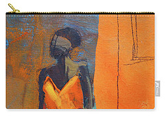 Carry-all Pouch featuring the painting Lady In Orange by Nancy Merkle