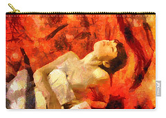 Carry-all Pouch featuring the digital art Lady In Red by Gun Legler