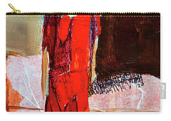 Carry-all Pouch featuring the painting Lady In Red by Nancy Merkle