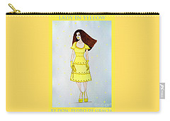 Lady In Yellow Carry-all Pouch
