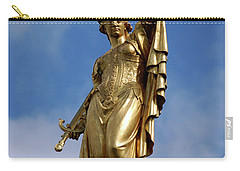 Carry-all Pouch featuring the photograph Lady Justice In Bruges by RicardMN Photography