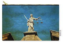 Lady Justice. Streets Of Dublin. Painting Collection Carry-all Pouch