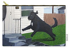 Lady Leaps The Small Front Stairs Carry-all Pouch