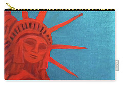 Carry-all Pouch featuring the painting Lady Liberty by Margaret Harmon