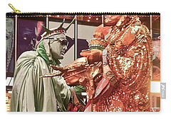 Carry-all Pouch featuring the painting Lady Liberty On Broadway by Joan Reese