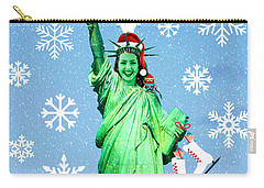 Lady Liberty's Got The Christmas Spirit II Carry-all Pouch