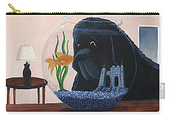 Lady Looks In The Fish Bowl For Mommy And Daddy Carry-all Pouch
