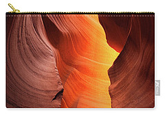 Carry-all Pouch featuring the photograph Lady Of The Flame by Darren White