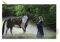 Carry-all Pouch featuring the digital art Lady Of The Morning by Melinda Hughes-Berland