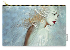 Lady Of The White Feathers Carry-all Pouch