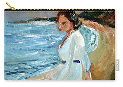 Lady On The Beach Carry-all Pouch