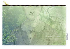 Lady On The Tracks Carry-all Pouch by Angela Hobbs