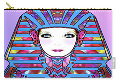 Carry-all Pouch featuring the photograph Lady Tut #191 by Barbara Tristan