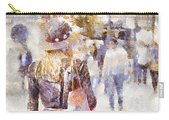 Lady Walking Carry-all Pouch by Shirley Stalter