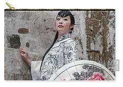 Lady With An Umbrella. Carry-all Pouch