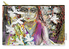 Lady With Birds Carry-all Pouch