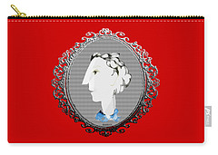Lady With Blue Scarf Carry-all Pouch