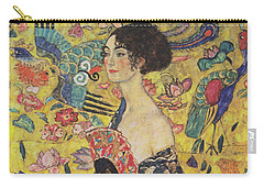 Lady With Fan Carry-all Pouch