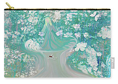 Carry-all Pouch featuring the digital art Lady With Love Of The Fountain by Sherri Of Palm Springs