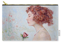 Lady With Roses  Carry-all Pouch