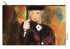 Lady With Umbrella Carry-all Pouch