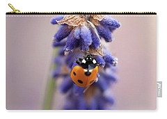 Ladybird On Norfolk Lavender  #norfolk Carry-all Pouch by John Edwards