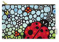 Ladybug Art - Joyous Ladies 2 - Sharon Cummings Carry-all Pouch