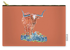 Ladybug In The Bluebonnets Lh002 By Kmcelwaine Carry-all Pouch