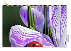 Ladybug On A Spring Crocus Carry-all Pouch