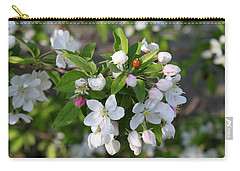 Ladybug On Cherry Blossoms Carry-all Pouch