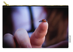 Ladybug On  Finger  Carry-all Pouch