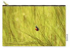 Ladybug In A Wheat Field Carry-all Pouch