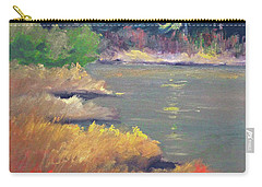 Carry-all Pouch featuring the painting Lagoon by Nancy Merkle