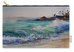 Carry-all Pouch featuring the painting Laguna Beach North View by Sandra Strohschein
