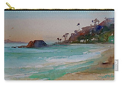 Carry-all Pouch featuring the painting Laguna Beach Plein Air by Sandra Strohschein