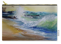 Carry-all Pouch featuring the painting Laguna Beach Wave South View by Sandra Strohschein